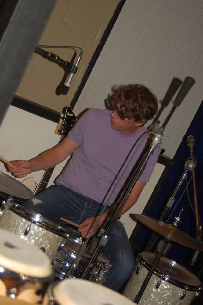 The Black Keys drummer Patrick Carney at Muscle Shoals Sound. (Courtesy photo)