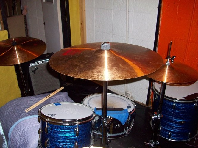 "One of the drumkits used on The Black Keys' ""Brothers"" album. (Courtesy photo)"