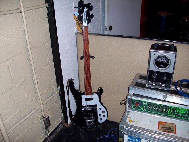 "A Rickenbacker bass used on The Black Keys' ""Brothers"" album. (Courtesy photo)"