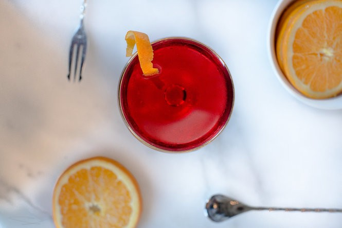 Campari cocktail (Credit:Mary Katherine Morris)