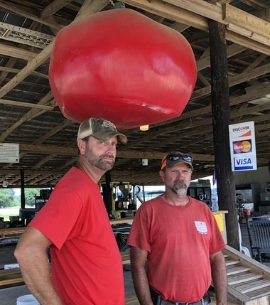 Tommy and John Aplin work at Aplin Farms. They've been a part of the family business virtually since birth. Their grandfather Q.P. Aplin was one of the original Slocomb tomato farmers.