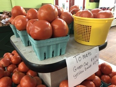 Sawyer's Produce in Malvern is run by Jane Sawyer and her husband, whose parents started growing Slocomb tomatoes decades ago.
