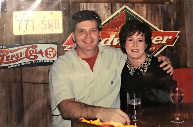 Tim and Barbara Johnson are pictured here soon after they bought Cooter Brown's Rib Shack in 2000. (Photo courtesy of Tim and Barbara Johnson)