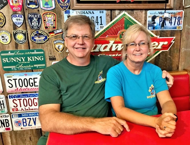 Tim and Barbara Johnson, who are sitting in the same booth where they sat 18 years before, are pictured again in 2018. (Bob Carlton/bcarlton@al.com)
