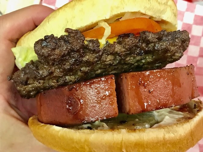The Coach's Burger -- a cheeseburger with a thick slice of fried bologna -- is a tribute to former University of Tennessee football coach Phillip Fulmer. (Bob Carlton/bcarlton@al.com)