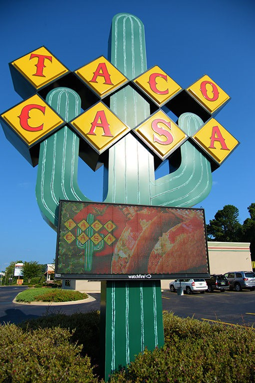 The iconic big green cactus is a familiar landmark around Tuscaloosa, which Taco Casa has six locations. (Ben Flanagan/bflanagan@al.com)