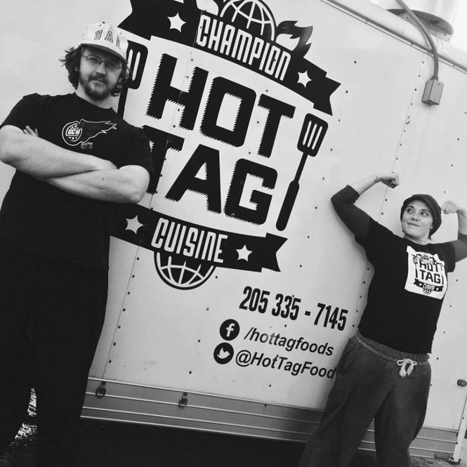 David Woods and Chef Fiona Marshall of The Hot Tag (Courtesy: The Hot Tag)