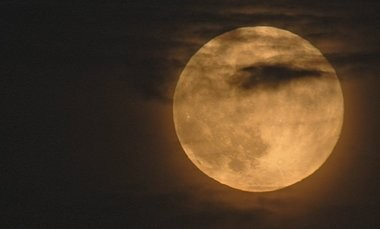 Full moon rises over Huntsville, Ala., on Oct. 29, 2012. (Bob Gathany/bgathany@al.com)
