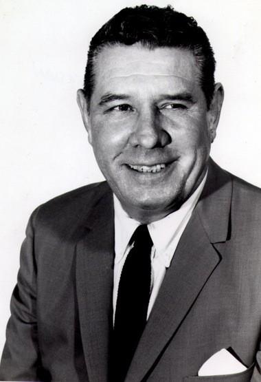 """Auburn football coach Ralph """"Shug"""" Jordan in 1964."""