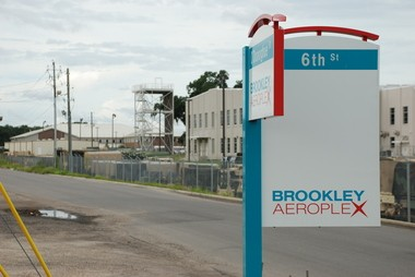 Roadwork can be seen at Aerospace Drive, near the future site of the Airbus final assembly plant at the soon-to-be-rebranded Mobile Aeroplex at Brookley on Aug. 23, 2013. (Michael Dumas/mdumas@al.com)