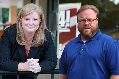 Republican Margie Wilcox, left, defeated Democrat Stephen Carr in a special election for Alabama House of Representatives District 104 on Tuesday, Feb. 4, 2014.