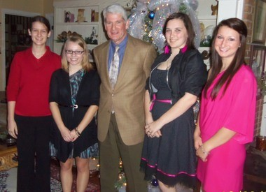 A Christmas tea was held at the home of Carol May by the Mobile Area Chapter Judson College Alumnae. The tea was attended by about 30 guests, alumnae and staff members. From left are Robin Jordan; Mary Katherine Moses; David Potts, president of Judson College; Gabriele Barton; and Samantha Bunnam. Moses, Barton and Bunnam have already committed to attend Judson College next fall. (Submitted by Ida Colvin)