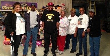A group of Williamson High School's alumnae from the class of 1965 donated toys to WKRG'S Toy Drive. From left are Hannah S. Moore, James E. Johnson, Harvey Turner, Edwina J. Evans, Mae M. Barnes and Delores A. Parker. (Submitted by Mae M. Barnes)