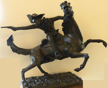 The sculpture Buffalo Soldier II by John Solomon Sandridge is one of 22 donated to Athens State University by the family of Dr. Gilder Wideman. (Contributed by Athens State University)