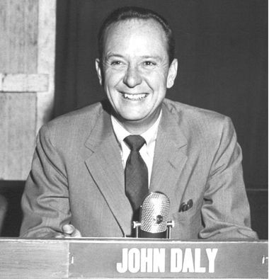 """John Daly, host of """"What's My Line?,"""" divorced in Alabama when it was a divorce-mill state and later married the daughter of Chief Justice Earl Warren. (Contributed by Wikipedia Commons)"""