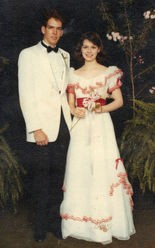 Grant Ezell and Amy Douthit Hall at the Athens High School prom 1983. (Contributed by Amy Douthit Hall)