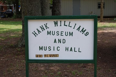Pete O'Dell's museum in Irvington, Alabama, is host to all things Hank Williams. (Nathan Simone/AU Living Democracy Community Reporter)