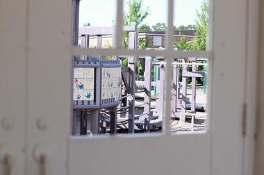 Visitors get view of Tiger Town Park through door windows. (Sierra Lehnhoff/Living Democracy Community Reporter)