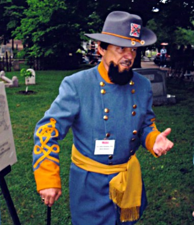 """W. R. """"Dick"""" Dickson tells the life and death of his great grandfather, the Confederate Major John Steele Dickson, who died at the Battle of Franklin in 1864 and is buried at Maple Hill Cemetery in Huntsville. (Courtesy of Rebecca Dickson Harris)"""