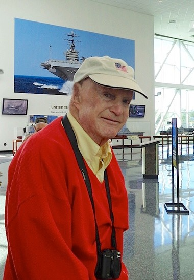 World War II Navy veteran Caldwell Marks visits the Naval Air Museum. (Photo provided by the family)
