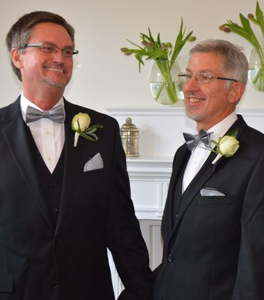 Bobby Prince, left, and Joe Openshaw were legally married in this Washington D.C. ceremony on Sept. 3, 2013. (Special/Kevin Higgs)