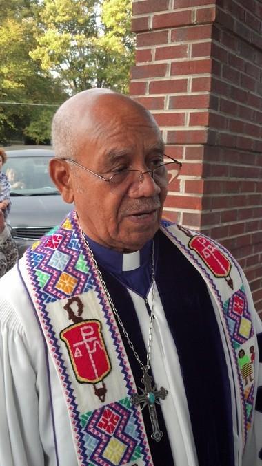 Bishop Melvin Talbert, after conducting a same-sex wedding in Birmingham, Alabama, on Saturday, Oct. 26, 2013. (Photo by Greg Garrison/ggarrison@al.com)