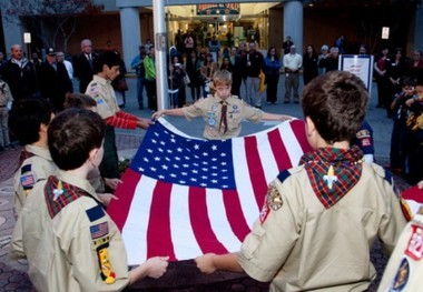 Cub scouts hold a flag ceremony for Veterans Day 2012 in Hoover, Ala. (AL.com)