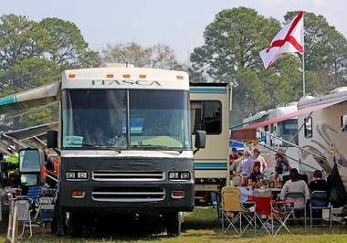 Thousands of people will turn out Saturday, Jan. 25 for the Reese's Senior Bowl Game in Mobile, Ala. and it's a good bet that many them came for the party and not the game. Here are a few ideas how to enjoy a good, safe tailgate party anywhere you are. (File photo)
