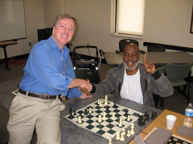 Kevrick demonstrated the checkmate he just played and very proudly showed how he accomplished this to his chess teacher your author. Learning chess or any of the mind sports is an excellent way to slow the progression of Alzheimer's.