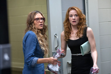 Izzy and Allyson (Andrea Logan White and Sarah Drew) are in for many surprises on their moms' night out. (Provident Films)