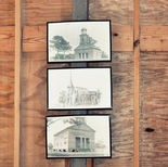 Sketches and photos of original church hang inside. (Lowery McNeil/AU Living Democracy)