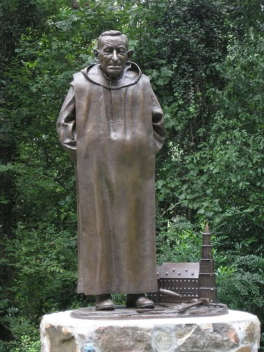 This statue was dedicated in 2009 at Ave Maria Grotto. It's a life-size depiction of Brother Joseph Zoettl, the monk who created Ave Maria Grotto. (File)