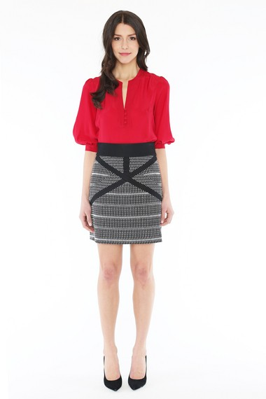 This Thompson skirt, $290, is part of the by SMITH fall collection. Photo credit: Special.