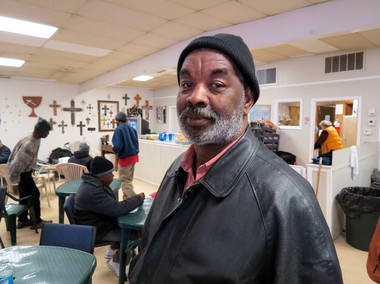 Members of Grateful Life Community Church in Huntsville, Ala., have converted the sanctuary to an emergency shelter for people who can't stay in the regular shelters during the cold snap. Deacon Gary Jasper, who himself has been homeless, is one of two church deacons who stayed awakeduring the first of three nights that the church will be open to keep an eye on the visitors, some of whom struggle with mental problems. Jan. 8, 2015.