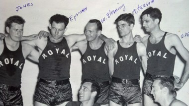In this 1946 photo of the Bessemer Royal basketball team, Redmond Wheeler Flemming is in the center. (Photo courtesy of the family)