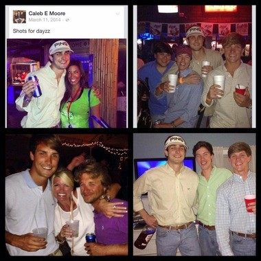 The 'Joe.My.God' blog published photos attributed to Caleb Moore's social media accounts.