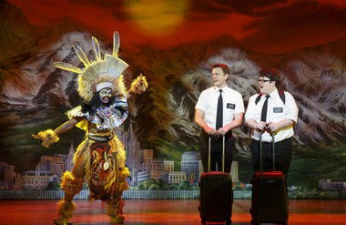 The musical comedy 'The Book of Mormon' completed a six-day run in Birmingham at the BJCC on Feb. 22, 2015. Real Mormon missionaries, spoofed in the play, handed out real copies of the real Book of Mormon after each show.