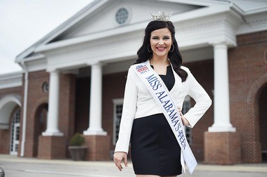 Kaitlynn Campbell is the 2015 Miss Alabama's Outstanding Teen Pageant. She poses for a photo in front of Hayden High School, Monday, March 9, 2015. (Tamika Moore/tmoore@al.com)