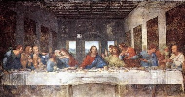 """Leonardo da Vinci's painting """"The Last Supper"""" is among the most famous art works in the world. It was painted between 1492 and 1498 on the dining hall wall at the convent of Santa Maria delle Grazie, in Milan, Italy. (File)"""