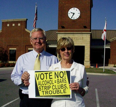 The Rev. James Henderson and his wife, Carol, led the 2012 movement to keep liquor sales out of Priceville, Ala., a town then with about 2,500 residents that abuts Decatur to the south. Henderson said ministers, as shepherds, have no choice but to fight anything that allows hurtful elements to expand.