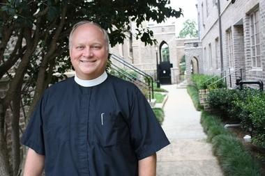 Rev. J. Russell Kendrick, bishop-elect of the Episcopal Diocese of the Central Gulf Coast, visits Trinity Episcopal Church in Mobile, Ala., on Thursday, July 16, 2015. (Carol McPhail/cmcphail@al.com)