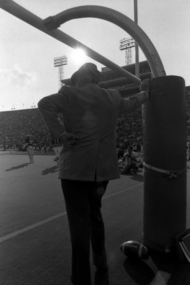 Frank Wagner sent a message to Alabama football coach Paul 'Bear' Bryant asking him not to smoke at Legion Field. Bryant declined. (Photo of Bryant at Legion Field in the 1970s by Bernard Troncale/The Birmingham News)