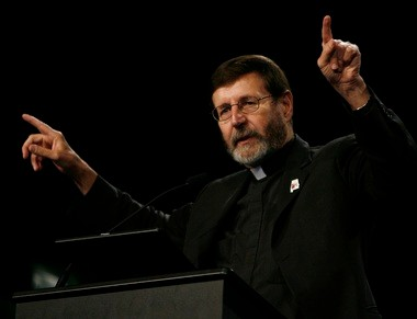 The Rev. Mitch Pacwa, a Jesuit priest who hosts the 'EWTN Live' TV talk show, will help rate candidates on the biblical foundation of their political stances. (EWTN/Karen Callaway)