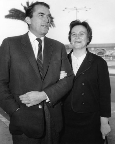 Gregory Peck, who starred as Atticus Finch in the movie version of 'To Kill a Mockinbird,' accompanied Harper Lee to the movie's premiere in 1962.