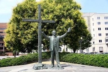 LifeWay Christian Resources is moving a statue of Southern Baptist evangelist Billy Graham from its downtown Nashville location to a LifeWay retreat center in the North Carolina mountains, a few miles from Graham's home. The move is prompted by last year's sale of LifeWay's 15-acre Nashville campus. The bronze sculpture will be dismantled Wednesday, June 8.