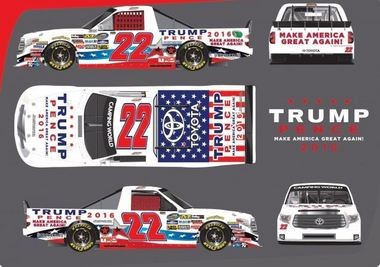 A Texas-based NASCAR team plans to drive a Trump-Pence theme truck at the Talladega Superspeedway on Oct. 22 in the Fred's Pharmacy 250.