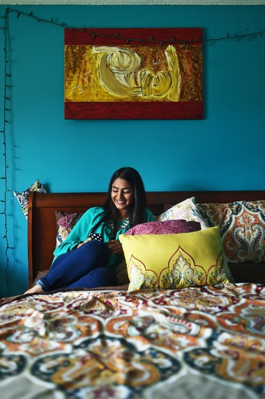"""Safa Barra, 16, emphasizes that there are millions of opinions about the hijab among Muslim women. """"We believe the same things, but practice differently sometimes."""" (Tamika Moore/tmoore@al.com)"""