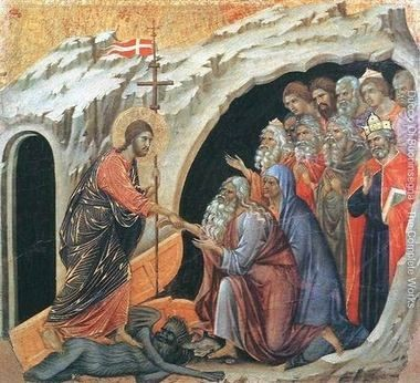 """""""Descent to Hell"""" by Duccio, painted 1308 to 1311 A.D."""