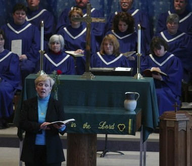 The Rev. Barbara Harper, the first female district superintendent for the North Alabama Conference of the United Methodist Church, preaches in 2006.