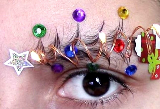 Christmas Tree Eyebrows.Christmas Tree Eyebrows Other Holiday Trends That Make You